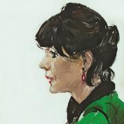 2016-Ritratto di Elisabetta Sgarbi. Tempera su tela, cm 70 x 100