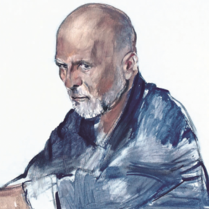 2018-Ritratto di Massimo Picozzi. Tempera su tela, cm 80 x 100