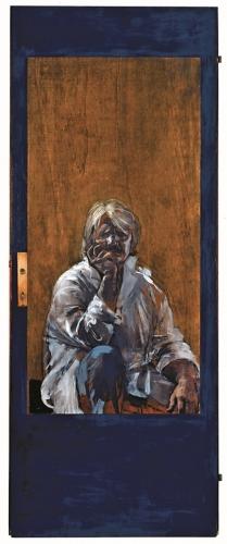 1983 - Autoritratto nello specchio della porta.  Ub. Vertova