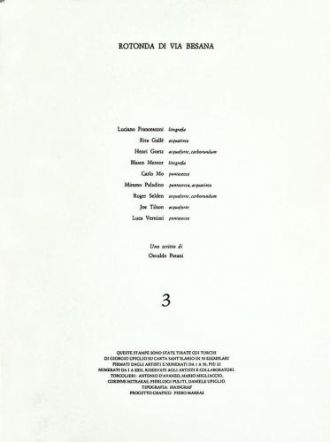 1986 - Cartella di incisioni Atelier Upiglio