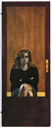 1990 - Riflessa nello specchio della porta.  Ub. Vertova