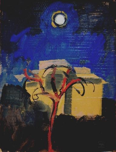 2005 - Albero rosso e luna piena