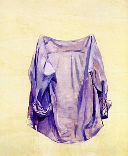 1991 - Camicia viola.  Museo Palazzo Sarcinelli