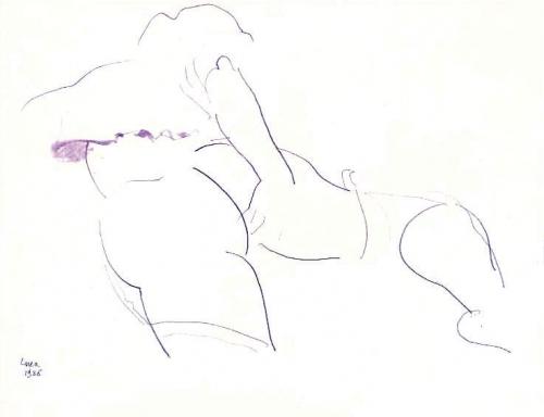 1986 - Donna nuda che si tocca