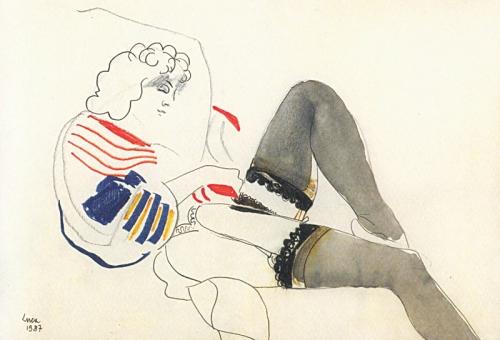 1987 - Nuda con calze