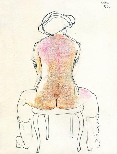 1990 - Seduta di schiena con stivaletti